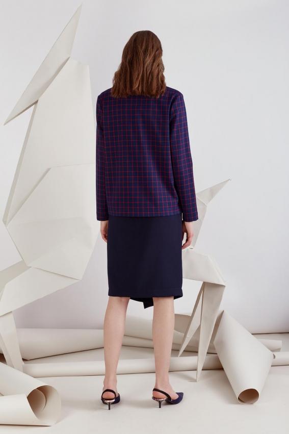 "Asymmetric slim fit skirt ""Piranha"" 2"