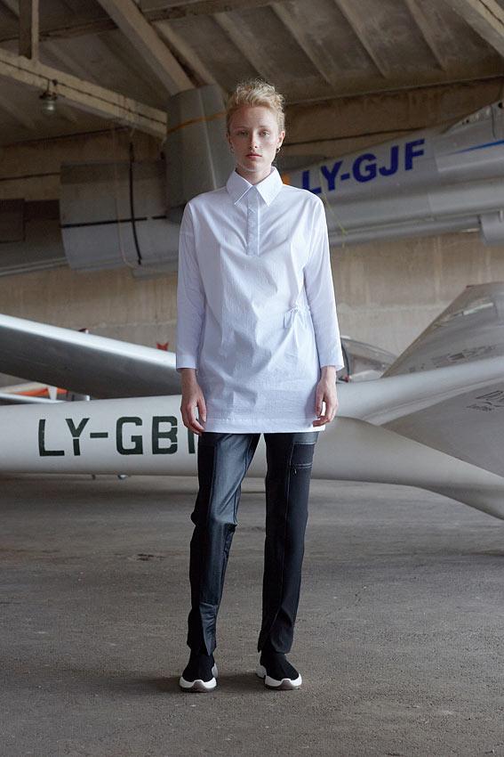 Balti moteriški marškiniai