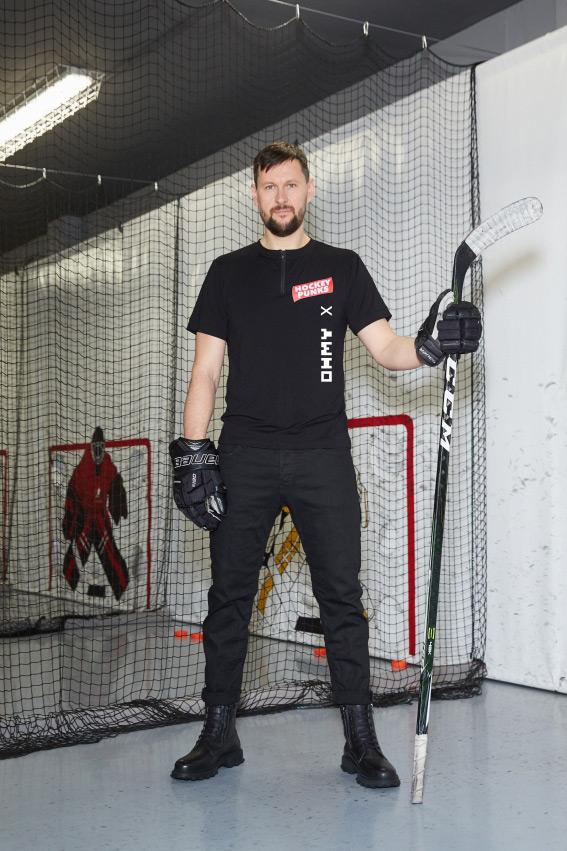 """""""OHMY x Hockey Punks"""" minimalistiniai marškinėliai 1"""