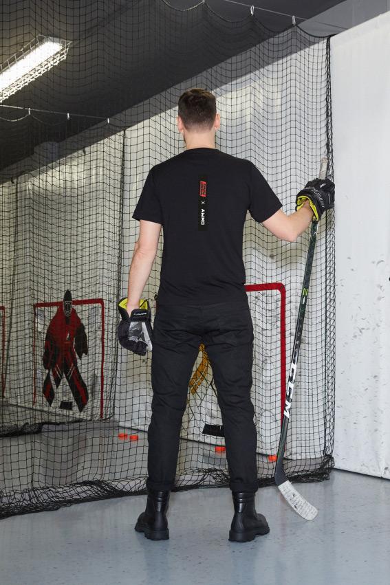"""""""OHMY x Hockey Punks"""" minimalistiniai marškinėliai 2"""