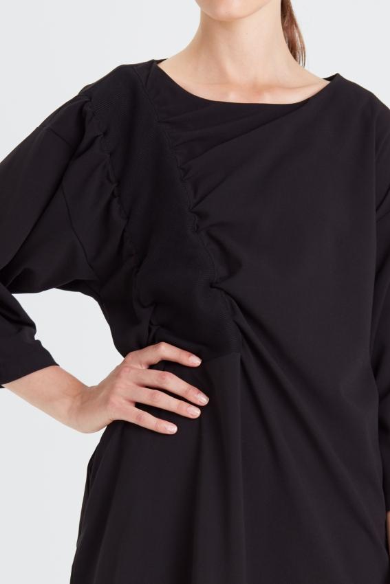 Minimal draped dress RIB 2