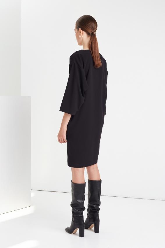 Minimal draped dress RIB 3