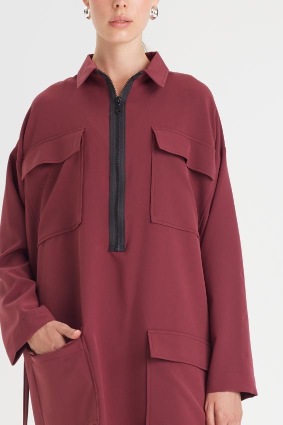 Oversized shirt dress SILENCE 2