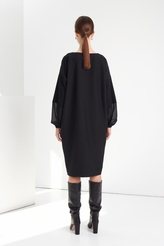 Loose minimal black dress MOONLIGHT 2