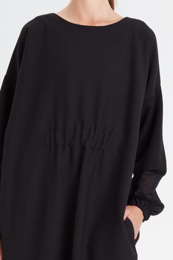 Loose minimal black dress MOONLIGHT 3