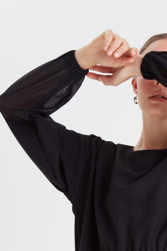 Loose minimal black dress MOONLIGHT 4