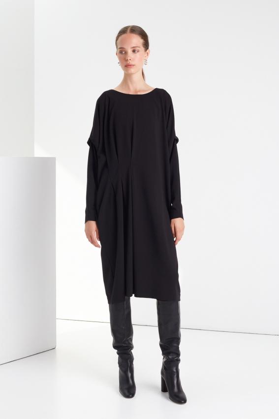 Oversized pleated dress DRAMA 1
