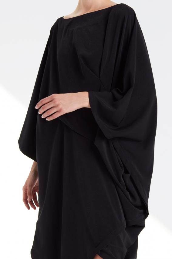 Oversized draped viscose dress DRAPE 2