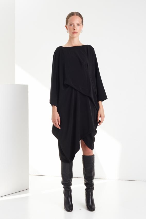 Oversized draped viscose dress DRAPE 1