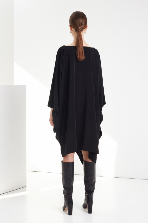 Oversized draped viscose dress DRAPE 3