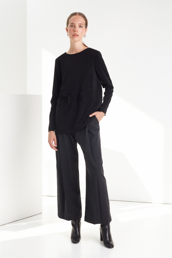 Classic pleated women trousers MUTE 1