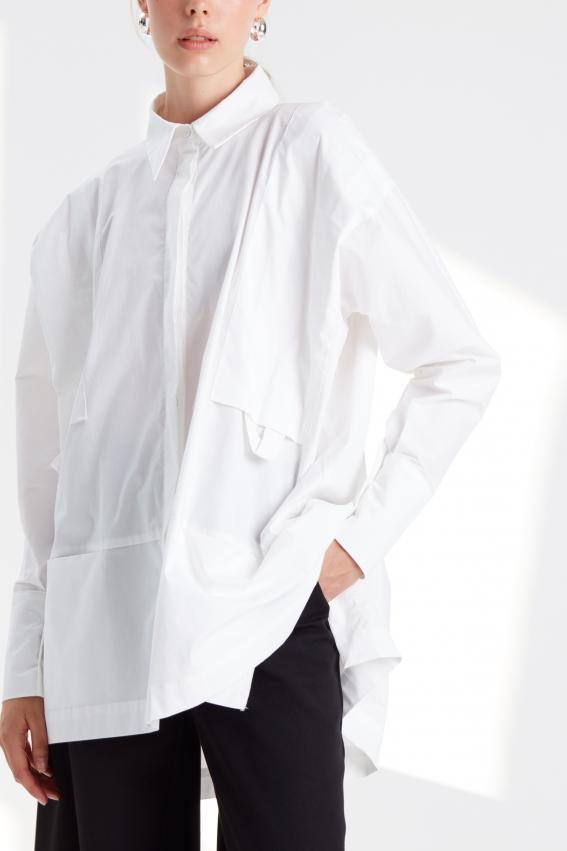 Oversize modern women shirt STOP 3