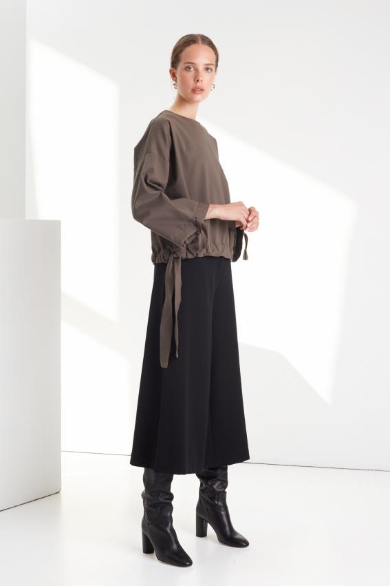 Black minimal culottes REVERSE 3