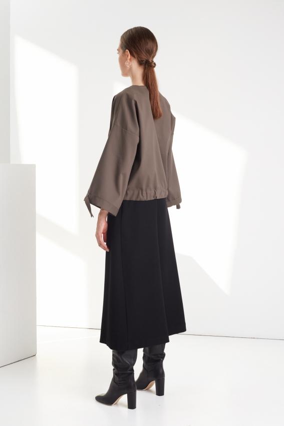 Black minimal culottes REVERSE 2