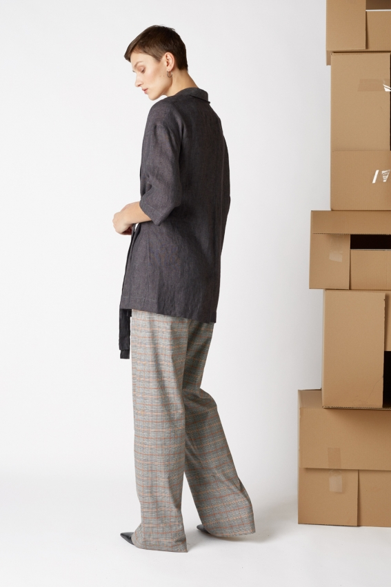 Minimal linen jacket TRAFIC 2
