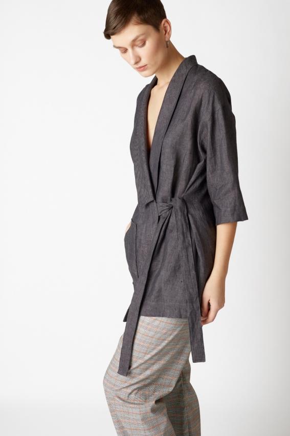 Minimal linen jacket TRAFIC 3