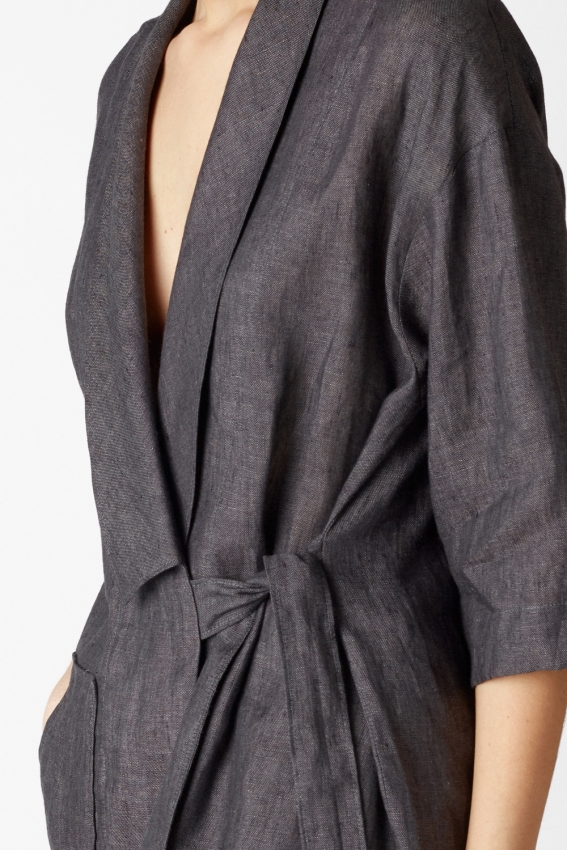 Minimal linen jacket TRAFIC 4