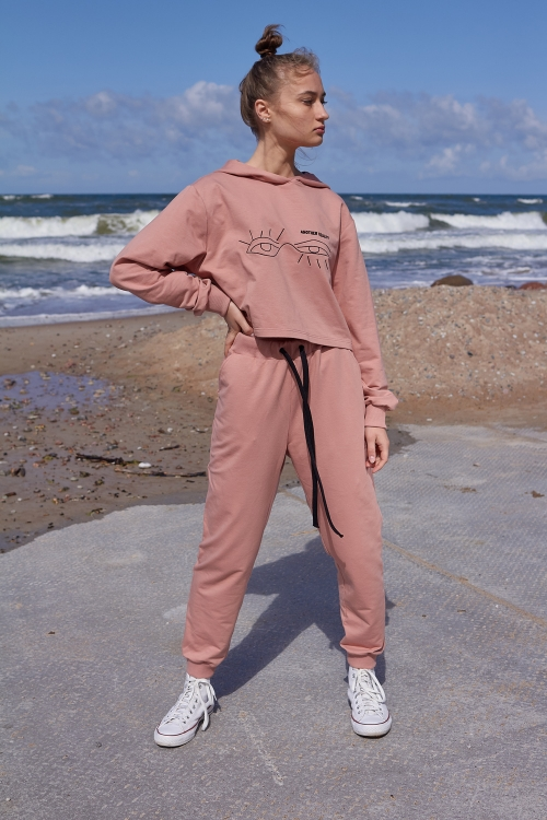 dusty rose women tracksuit