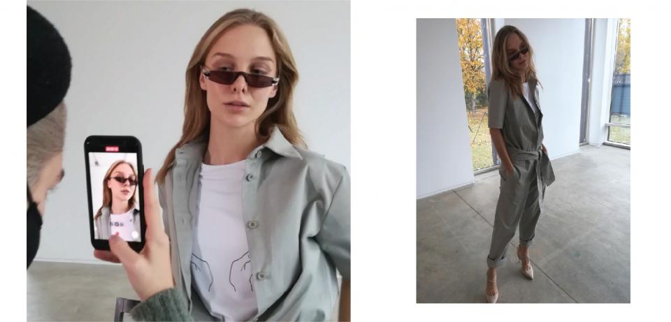 Modelis dėvi lietuvių gamybos drabužius