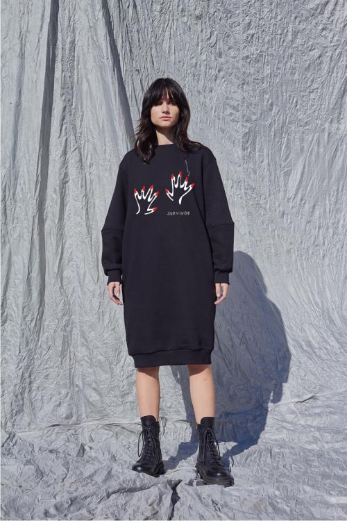 Džemperio tipo laisvalaikio suknelė NAILS